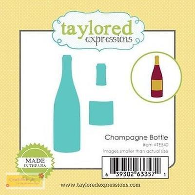 Taylordes Expressions Little Bits CHAMPAGNER BOTTLE - Sektflasche,Stanzschablone