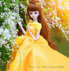 Ball-Jointed-1-3-BJD-Doll-Female-Eyes-Free-Face-Make-Up-Full-Set-Clothes-Gift-UK