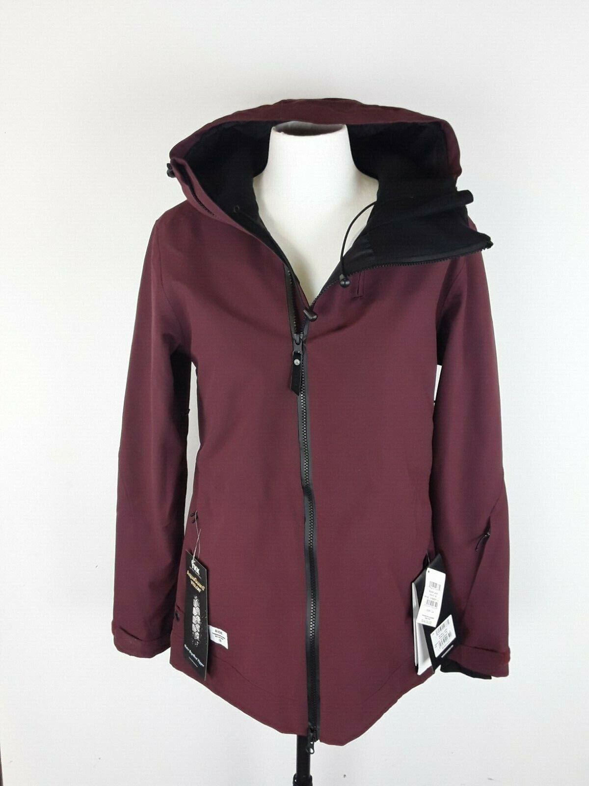 Ride Belmont Burgundy damen Med Ski Snowboard 15k Waterproof Breathable Jacket