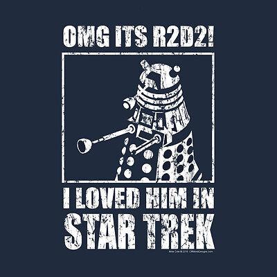 I Loved Him In Star Trek Mens t shirt funny R2D2 sci fi dalek wars OMG R2 D2