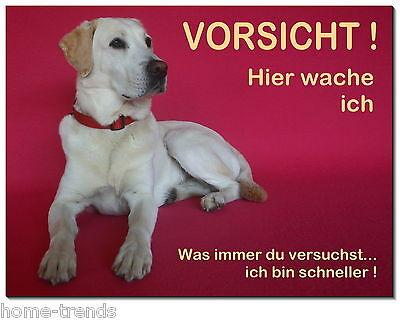 Vorsicht-Hund-Alu.Dibond-Edelst.Design-Schild-200 x100 mm-Warnschild-Hundeschild