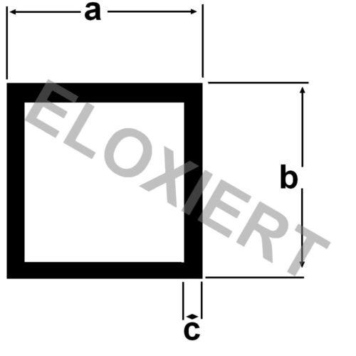 Alu Vierkantrohr 15x15x1,5mm ELOXIERT E6//EV1 Aluminium 1m
