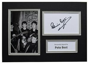 Pete-Best-Signed-Autograph-A4-photo-display-Beatles-Music-AFTAL-COA