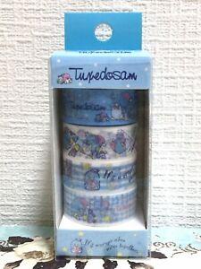 Lovely Sanrio Character Pompompurin Pom Pom Purin Washi Masking Tape 4 pc JAPAN
