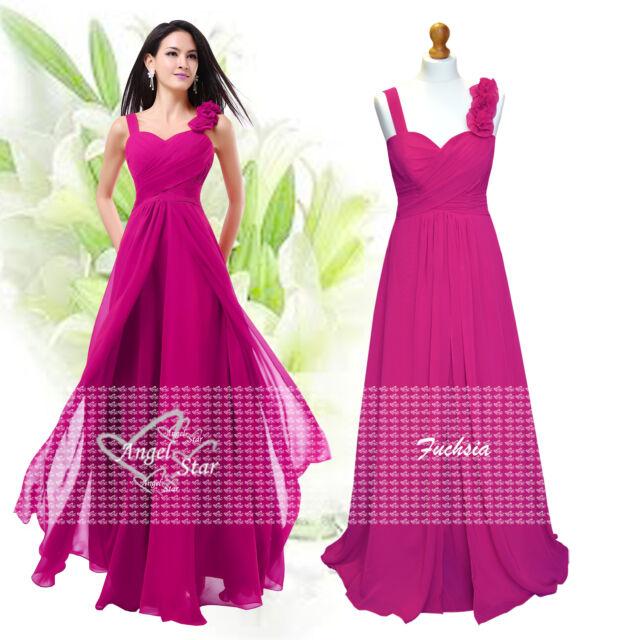 New Formal A-Line/Princess Full-Length Sleeveless Chiffon Bridesmaid Dress 6-24