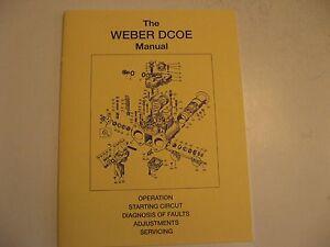 weber dcoe service manual brand new ebay rh ebay com weber carburetors owners workshop manual pdf