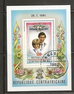 Central-African-Republic-SC-533-Birth-Of-prince-williams-Souvenir-S-MNH