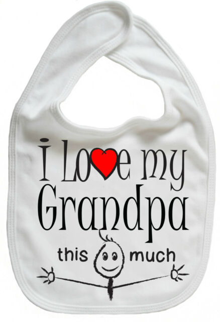 Baby Bandana Bib Grandfather cute fathers day Father Baby Boy