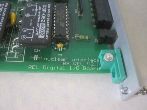 NUCLEAR INTERFACE REL DIGITAL I//O BOARD BS REL V2.0 OUT//MODULE 0 PLUG-IN RARE