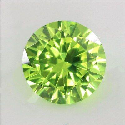 Beautiful 6.25CT 10MM Apple Green Sapphire Round Shape AAAAA VVS Loose Gemstone