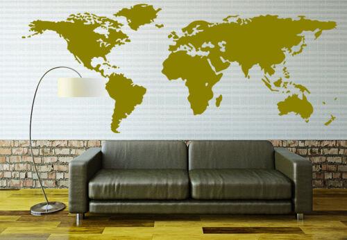 X-Large World Map Wall Sticker Home Decor Decal UK RUI164
