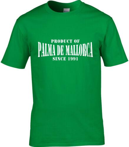 Product Of Palma De Mallorca Spain Mens T-Shirt Place Birthday Year Of Choice