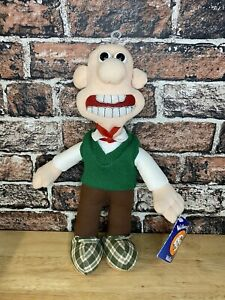 Vintage-1989-Wallace-amp-Gromit-Wallace-Soft-Plush-Figure-15-Born-To-Play-WTG