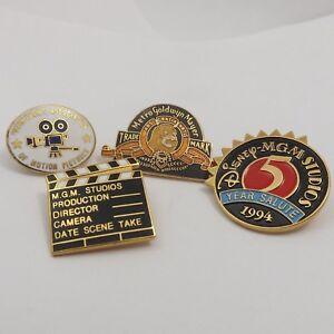 MGM-Studios-Walt-Disney-World-4-Trading-Pins-5-Year-Salute-Stuntmens-Assoc-1994