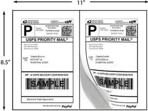 Economy-Half-Sheet-Shipping-Labels-5-5-x-8-5-034-2-Labels-Sheet-100-Sheets-Pack