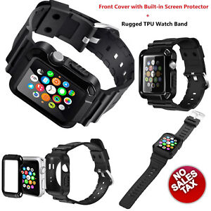 meet 4731b 36d4f Details about Apple Watch Accessory Strap Band 42mm Screen Protector Case  For Series1/2/3 Blac