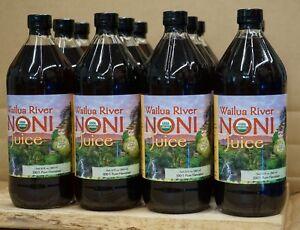 100% PURE HAWAIIAN WAILUA RIVER NONI JUICE Certified Organic: 12 Quart Bottles