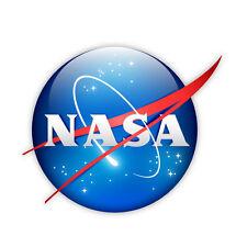 NASA National Aeronautics and Space Administration etichetta sticker 10cm x 10cm
