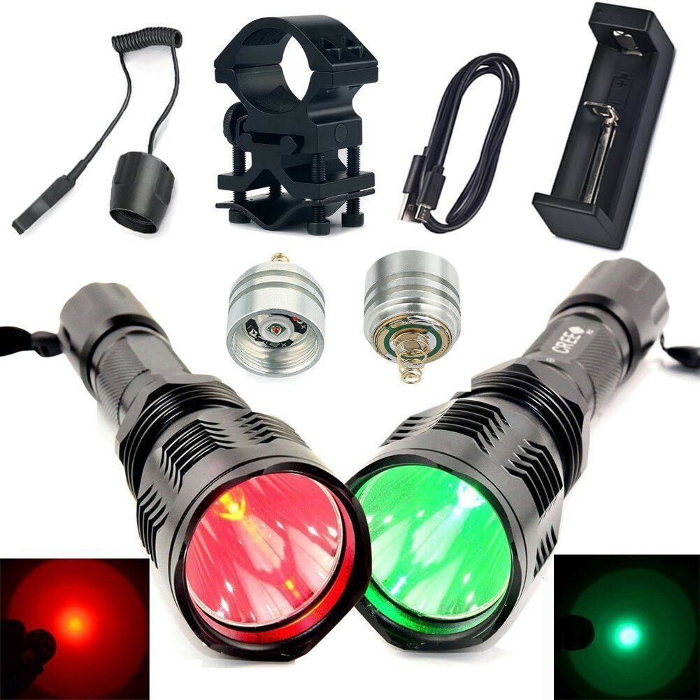 Hunting HS 802 Red Green Light  Flashlight Charger LED Pill Tail Switch Mount kit  to provide you with a pleasant online shopping