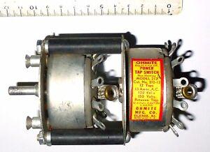 Commutateur-rotatif-2-x-12-pos-15-Amperes-isolation-115-V-AC-US-NOS-Ohmite