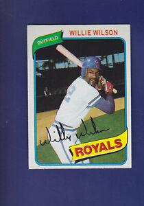Willie-Wilson-1980-TOPPS-Baseball-157-NM-Kansas-City-Royals