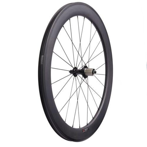 Details about  /60mm Tubules Road Bike Carbon Wheelset Rim No Holes Ceramic Bearing R13 Wheels