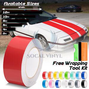 Gloss Color Racing Stripes Vinyl Wrap Decal For Mazda Miata Rx7 Stripe 10ft 20ft Ebay