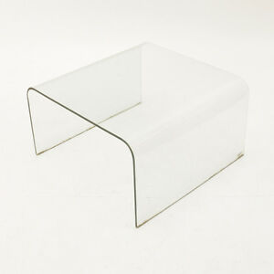 Tavolino a ponte in vetro curvato Sica, coffee table, vintage glass ...