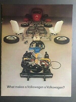 1962 Vw Beetle Showroom Advertising Sales Brochure Rare Awesome L K Ebay