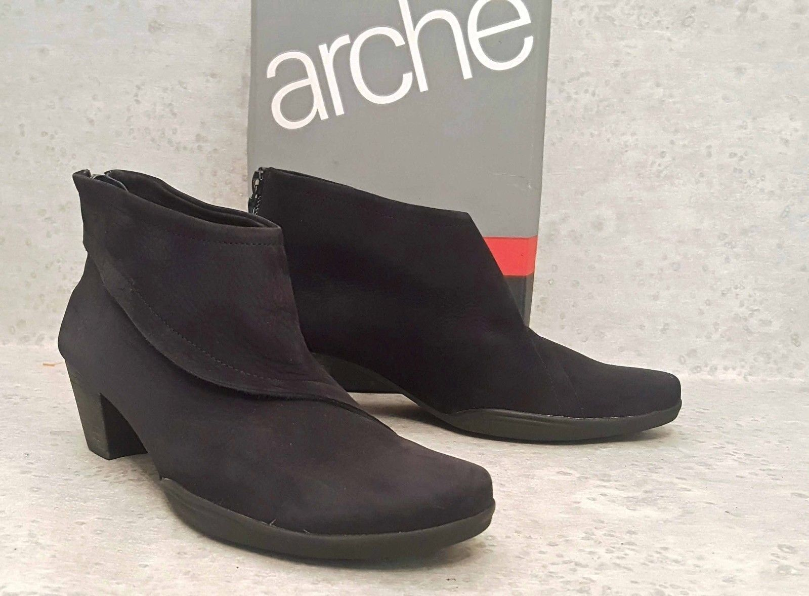 Arche ankle boots black nubuck leather size 40 us 9 M