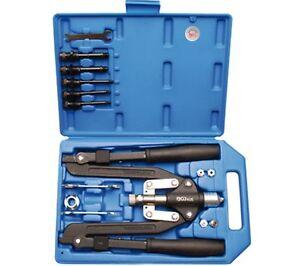 BGS-405-Profi-Scheren-Nietzange-14-teil-Blindnieten-Zange-3-2-6-4mm-Alu-Stahl