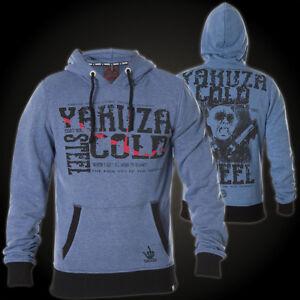 Blau Felpa Indigo Steel Hob cappuccio con con Felpe Yakuza Melange cappuccio 7055 Cold qxwUzqa