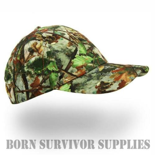 LEAF CAMO BASEBALL CAP Hunting Hat Camping Tree Camouflage Shooting Fishing