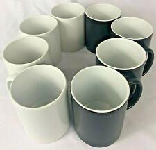 8pcs 11oz Blank Sublimation Mugs 4pc Blackglossycolor Changing 4pc White