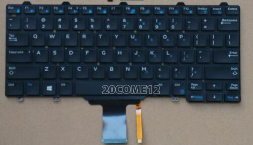 NEW FOR DELL Latitude E7250 Keyboard Backlit US No Frame