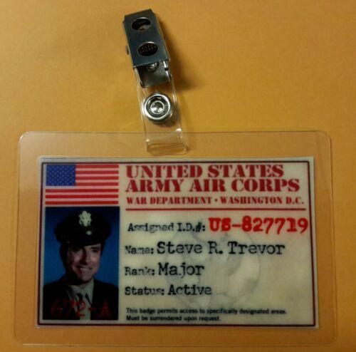 Wonder Woman  ID Badge-USAAC Steve R Trevor  pic cosplay costume prop