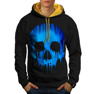 Hoodie Skull Skeleton Black Melting New gold Men Hood Contrast 5Cgwwqz