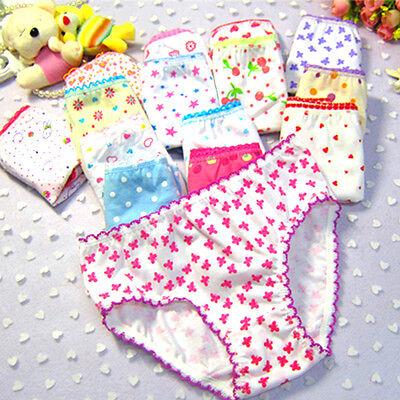 Kids Girls Soft Children Floral Bottoms Panties Briefs Shorts Underwear