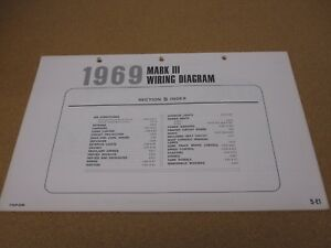 image is loading 1969-lincoln-mark-iii-wiring-diagram-sheet-schematics-