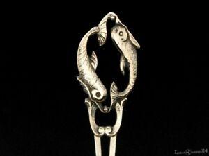 Beilegegabel-aus-800er-Silber-mit-Motiv-des-Sternzeichens-Fisch