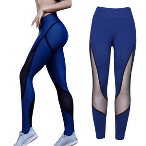 40c408e9dd85b EG_ Women Slim Fit Color Block Skinny Yoga Leggings Tummy Control ...