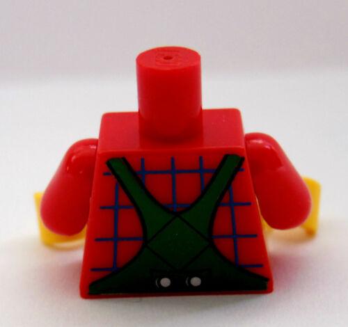 NEW Lego Boy Girl Minifig TORSO w//Green Bibs Overalls Minifigure