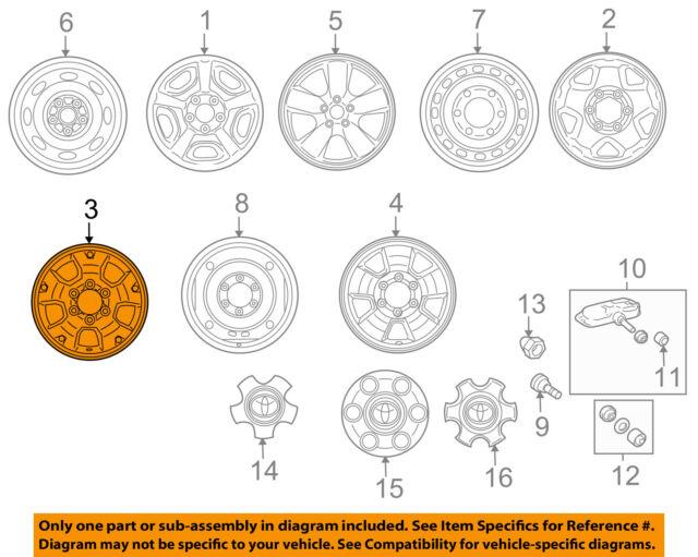 2005-2015 Toyota Tacoma Factory 16 Inch OEM Wheel 69461 | eBay
