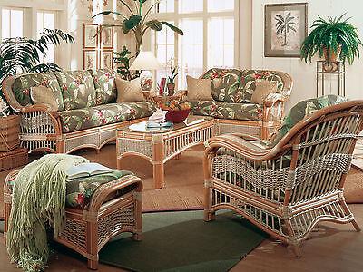 Pleasant Rattan Man Sea Scape Indoor Wicker 5 Pc Living Room Set From American Rattan Ebay Short Links Chair Design For Home Short Linksinfo