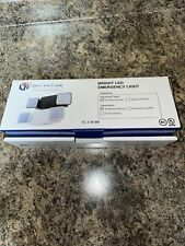 New Listinglight Fixture Industries Bright Led Emergency Light White Housing Batterybackup