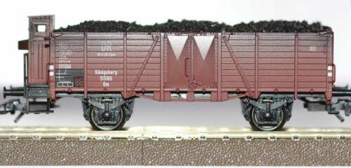 Trix H0 24258-02 Hochbordwagen Om 21 der DB aus Insider Set 24258 Echtkohle Neu