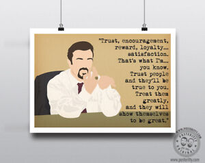 Trust, Reward DAVID BRENT Minimal Poster Art Posteritty Office Quote Gervais
