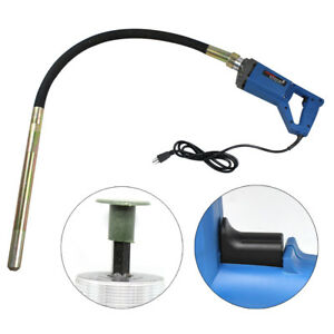 800W-Hand-held-Concrete-Vibrator-1-2m-Hose-Flexible-Shaft-Electric-Control-New