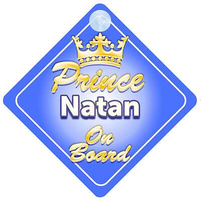 Audace Principe Ereditario Natan A Bordo Personalizzata Baby Boy Auto Firmare-