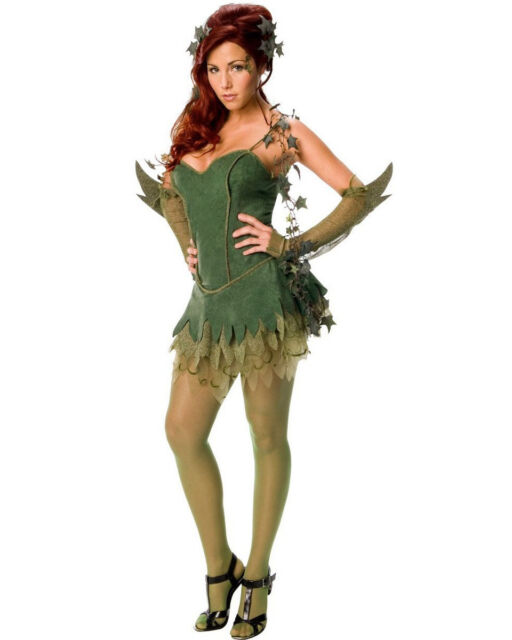 C368 Poison Ivy Batman Villain Batgirl Superhero Fancy Dress Halloween Costume